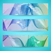 Abstract banner background - stock illustration