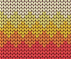 Seamless gradient knitting pattern Stock Illustration