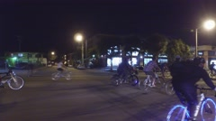 Critical Mass Flagler Street Miami Stock Footage