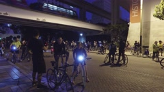 Critical Mass Miami gathering Stock Footage