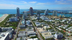 Coastal condos Miami aerial video Stock Footage