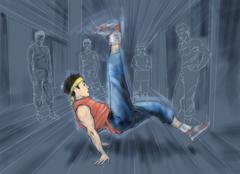 Break dance Stock Illustration