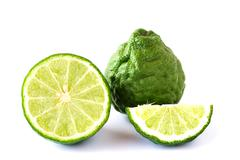 Bergamot fruit on a white background Stock Photos