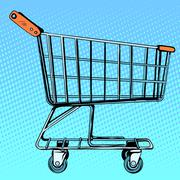 Grocery cart store - stock illustration