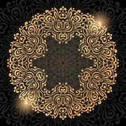 Abstract Ornate Mandala. Decorative frame for design Stock Illustration
