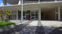 Modern open air parking garage Stock Footage