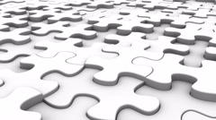 Background Formed From Moving Puzzles Stock Footage