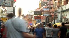 Khao San road shopping street in Bangkok, Thailand - stock footage