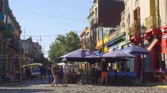 Street shot of Caminito, La Boca - stock footage