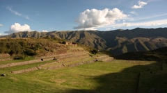 Tipón (Inca ruins) in the Andes of Peru, South America Stock Footage