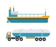 Gas oil transportation van vector Stock Illustration