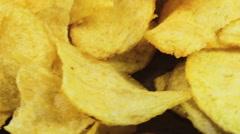 Potato Chips Rotating Stock Footage
