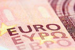 Detailed close up of a ten Euro - stock photo