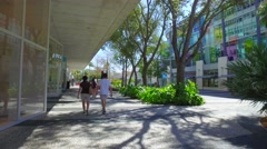 Lincoln Road shopping mall - stock footage