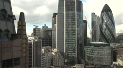 London City Skyline - stock footage