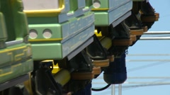 Roller Coaster, Taipei Children's Amusement Park Stock Footage