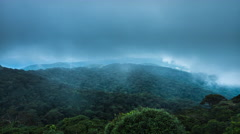 Fog over the mountain gorge and jungles in Cameron Highlands, Malaysia - stock footage