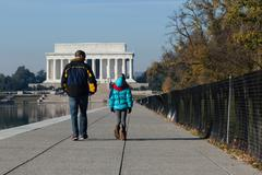 Visting the Lincoln Memorial Stock Photos