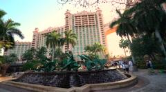 Atlantis Resort fountain - Nassau, Bahamas - stock footage