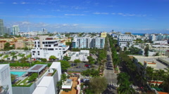 Washington Avenue Miami Beach Stock Footage