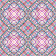 Geometric pattern. Hand drawing watercolor. Intersection strips - stock illustration