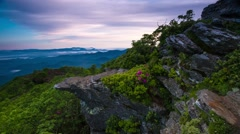 Morning Sunrise Summer Time Blue Ridge Mountains NC - stock footage