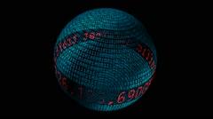 Internet traffic spinning globe  - stock footage