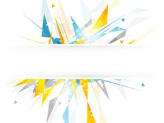 Abstract vector background with irregular polygonal pattern and arrows. Stock Illustration