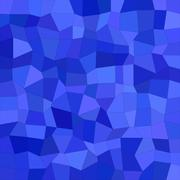 Blue color irregular rectangle mosaic background - stock illustration