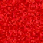 Red color irregular rectangle mosaic background - stock illustration