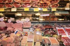 Delicatessen in Barcelona market Stock Photos