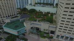 Intercontinental Hotel garden - stock footage