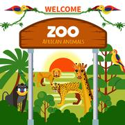 Zoo African Animals Piirros