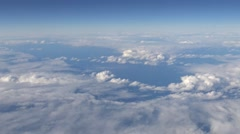 4K Hd Ultra, Wonderful view of the sky and clouds through an airplane window-Dan Stock Footage