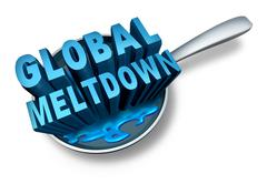 Global Meltdown Stock Illustration