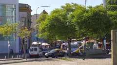 Panoramic shot of Caminito, La Boca - stock footage