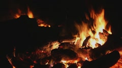 FirePit-close up Stock Footage