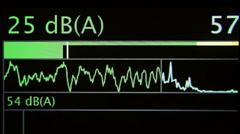 Sound waveform amplitude Stock Footage