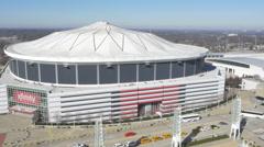 Georgia Dome Atlanta Ga Stock Footage