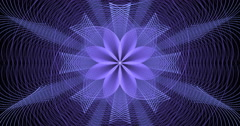 Abstract purple geometric design motion background seamless looping fractal Stock Footage