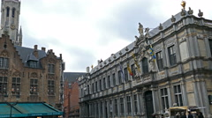 Burg square with the City Hall - stock footage
