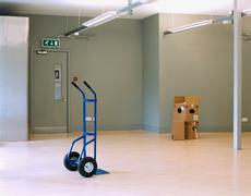 Sack barrow in empty office Stock Photos