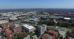 Flying Over the 110 Freeway Stock Footage