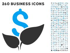 Agriculture Startup Icon with Flat Vector Set Stock Illustration
