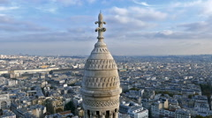 Rooftop and aerial view from Sacre Coeur Basilica - stock footage