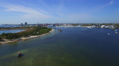 Peanut Island Riviera Beach Stock Footage