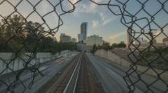 4K Atlanta, Georgia timelapse dolly shot of Georgia 400 Stock Footage