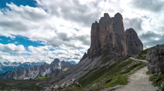 Clouds over dolomites - 4K time lapse - stock footage