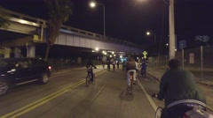 People on bikes Stock Footage