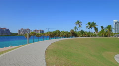 South Pointe park scenic route Stock Footage